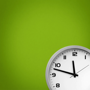 Clock Green Background