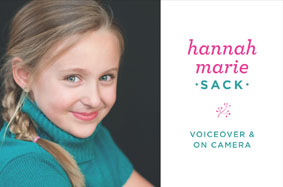 Hannah Marie Sack Voice Over
