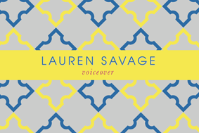 Lauren Savage Voice Over